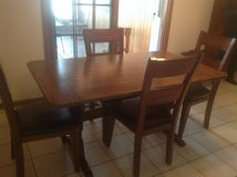 Oak Kitchen Table/6 Chairs in Chicago, Illinois