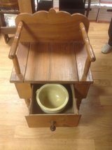 Antique Oak Commode (Potty Chair) in Chicago, Illinois