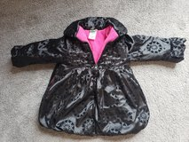 4T Winter Coat black with hot pink in Fort Campbell, Kentucky