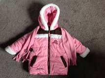 3T Toddler Girls Pink Winter Snow Coat w/ scarf in Fort Campbell, Kentucky