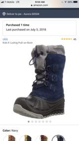 Ugg snow boots in Naperville, Illinois