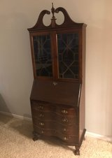 Vintage Secretary curio/display with writing table in Joliet, Illinois