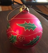 Decorative Red Ornament in Naperville, Illinois