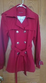 Calvin Klein red trench jacket in Chicago, Illinois