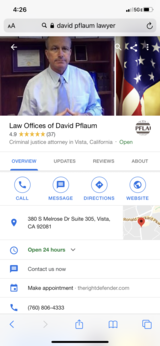 Defense lawyer review (DUI) in Camp Pendleton, California