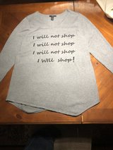 """I Will Not Shop"" Gray XL Top-Macy's Style & Co - in Bolingbrook, Illinois"
