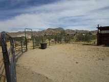 Corral Rails and Gate in Yucca Valley, California