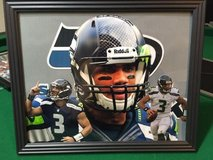 *** SEAHAWKS - Russell Wilson (print #2) 8x10 framed Lithograph *** (NEW) in Tacoma, Washington