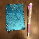 Reduced: Blue/Silver Flip Sequin Journal with Giant Pen in Joliet, Illinois