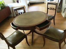 Table with 4 Chairs, Game Table, Card Table with Drawer Diningroom Table in Stuttgart, GE