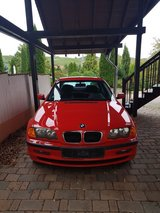 BMW 316i E46 in red in Ramstein, Germany
