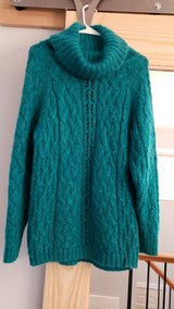 Fuzzy Teal Sweater in Chicago, Illinois