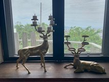 Pottery Barn Deer/Stag candle holders in Okinawa, Japan