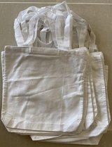 DIY White Canvas Tote Bags in Okinawa, Japan