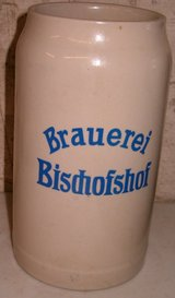 NEW - German 1-Liter BISCHOFSHOF Beer Stein in Grafenwoehr, GE