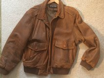 Men's leather bomber jacket in Glendale Heights, Illinois