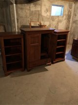 TV armoire with bookcase shelves in Sandwich, Illinois