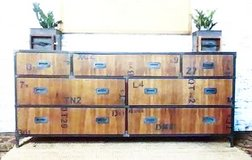 Urban industrial buffet/chest in Chicago, Illinois