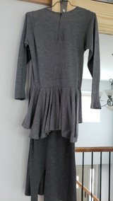 Free with any other purchase - Grey Jersey Dress, Size 8 in Bolingbrook, Illinois