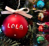personalised baubles in Lakenheath, UK