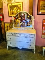 Antique Shabby Chic dresser with mirror in Cherry Point, North Carolina