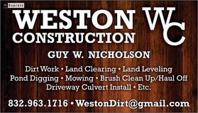 Weston Construction in Cleveland, Texas