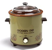 Vintage Crockery Chef Avocado Electric Slow Cooker #5015 in Westmont, Illinois