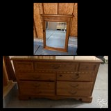 Long dresser with mirror in Yorkville, Illinois