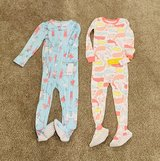 BRAND NEW WITH TAGS - Carters 3T Footed Toddler Girl Pajamas. 1 pair $7 or both for $12 in St. Charles, Illinois