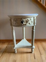 End Table with marble top in Yorkville, Illinois