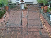 2 Wrought iron coil spring chairs in Kingwood, Texas