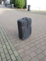 big blue suitcase in Ramstein, Germany