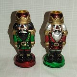 (2) Department 56 Nutcracker Taper Candleholder Ornaments # 56.77131 $25 Each or both $40 in Naperville, Illinois