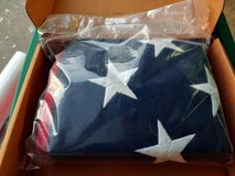 US Flag 5x9.5 Cotton NEW in bag in Warner Robins, Georgia