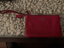 Genuine Coach Red Leather Wristlet in Okinawa, Japan