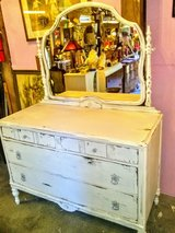 Antique distress dresser with mirror in Cherry Point, North Carolina