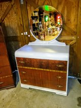 Antique dresser with mirror in Cherry Point, North Carolina