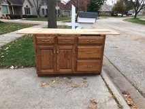 FREE Cabinet with wooden top in Joliet, Illinois
