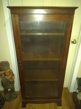 Mahogany Glass Front Small China Cabinet 4.5'H in Kingwood, Texas