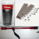 """New! Eskimo Ice Fishing Dual Head Bucket Chisel -OR- 10"""" Replacement Blades ~Quantum/Rocket Auger in Joliet, Illinois"""