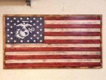 Handcrafted American Flag Coin Holder in Okinawa, Japan