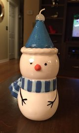 Ceramic Snowman & Candle in Shorewood, Illinois