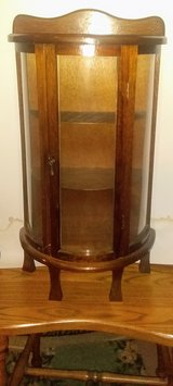 Oval-faced, standing / hanging, Curio Cabinet in Naperville, Illinois