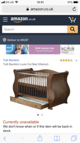 Cot Bed in Lakenheath, UK