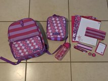 Brand New American Girl Backpack Lunch Bag Thermos School Supplies Set in Travis AFB, California