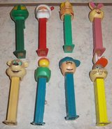 Eight (8) Pez dispensers Bugs bunny, Charlie  Brown and others in Alamogordo, New Mexico