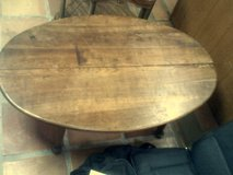 Custom made cherry wood oval coffee table in Alamogordo, New Mexico