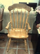 High back wood chair in Alamogordo, New Mexico