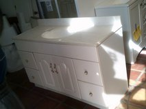 White Vanity with middle single sink in Alamogordo, New Mexico