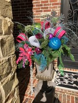 Christmas urns in Conroe, Texas